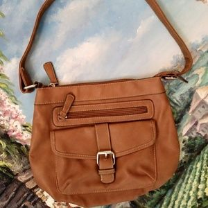 Croft & Barrow Faux leather Brown Shoulder Bag